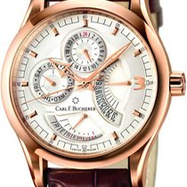 Carl F. Bucherer Manero Retrograde 18K Rose Gold with Alligato...