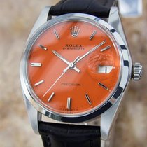 Rolex Oysterdate 1974 Precision 6694 Manual Stainless Swiss...