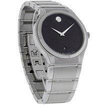 Movado Quado Series Mens Black Dial Swiss Quartz Dress Watch...
