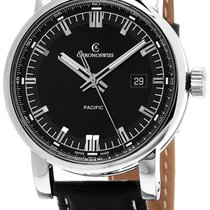 Chronoswiss Grand Pacific Automatic Steel Mens Strap Watch...