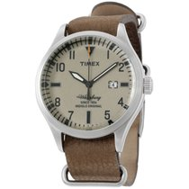 Timex Tan Dial Beige Leather Strap Men's Watch Tw2p64600