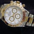 Rolex Cosmograph Daytona 2tone 18k Gold/ss Sel White Dial 116523