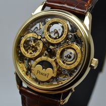 Piaget Skeleton Moonphase Triple Date Calendar 18K Yellow Gold