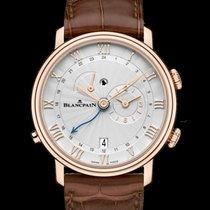 Blancpain Villeret Reveil GMT Alarm Stamped Flinque Opaline...