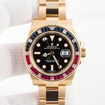 Rolex GMT Master II SARU Yellow Gold Sapphire Diamond and Rubies