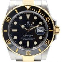 Rolex Submariner 116613 Ceramic Black 40mm 18k Yellow Gold...