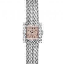 Omega Türler 18kt Weißgold Diamond Handaufzug 16x15mm Vintage...
