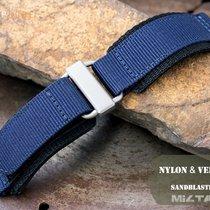 MiLTAT 22mm Velcro Fastener Watch Strap, Navy Blue BL