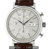 IWC Portofino Collection Chronograph Stainless Steel Silver Dial
