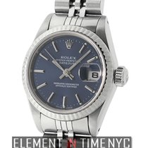 Rolex Datejust Lady 26mm Steel & Fluted White Gold Bezel...
