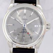 Omega De-Ville Co-Axial GMT Chronometer grey Dial Dresswatch Top