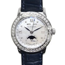Blancpain Leman Stainless Steel With Diamonds Silvery White...