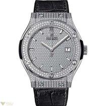 Hublot Classic Fusion Titanium Full Pave Men's Watch