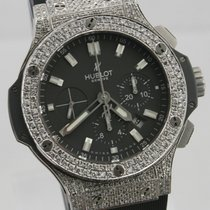 Hublot BIG BANG ICE Diamond CHRONOGRAPH Herrenuhr 44mm Chrono
