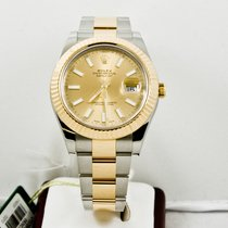 Rolex Mens Steel & Gold Datejust II 116333 Champagne Dial