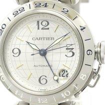 Cartier Polished Cartier Pasha C Gmt Steel Automatic Unisex...