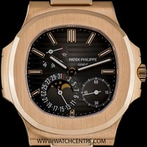 Patek Philippe 18k Rose Gold Power Reserve Nautilus Gents...