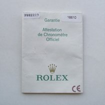 Rolex Libretto / Booklet per Submariner 16610LV