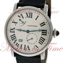 Cartier Rontonde Power Reserve, Silver Dial - White Gold on Strap