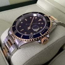 Rolex Oyster Submariner Gold Steel Blue Dial 40 mm (1992)