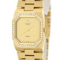 Rolex Cellini Midsize 18k Gold .5ctw Diamond Bezel 28mm 4650...