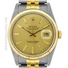 Rolex stainless steel and 18k yellow gold Gent's Datejust