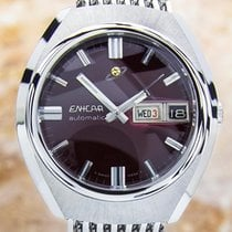 Enicar Automatic Day Date Swiss Watch #j56