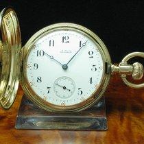 Waltham 14kt 585 3 Deckel Gold Savonette Sprungdeckel Taschenu...