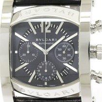 Bulgari Polished  Assioma Steel Leather Automatic Mens Watch...