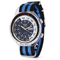 Heuer Solunar 279.603 Mens Vintage Watch in Stainless Steel