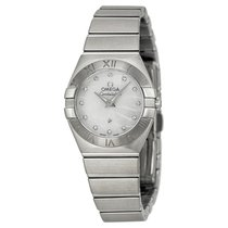 Omega Constellation White Mother of Pearl Dial Ladies Watch...
