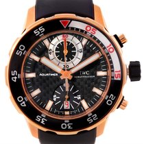 IWC Aquatimer Chronograph 44mm 18k Rose Gold Watch Iw376903...
