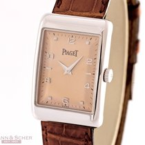 Piaget Gentlemans Watch Mecanique 18k White Gold Bj-1999