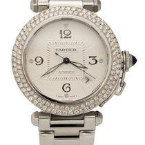 Cartier Pasha Automatic Stainless Custom Diamond Bezel 2379 Watch