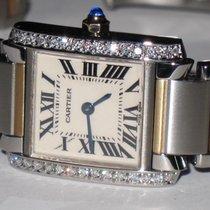 Cartier Tank Francaise 18K Gold Diamonds