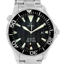 Omega Seamaster 300m Black Wave Dial Stainless Steel Watch...