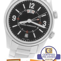 Girard Perregaux Traveler II Alarm GMT Stainless Black 40mm...