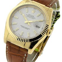 Rolex Unworn 116138 Mens Yellow Gold Datejust with Fluted...