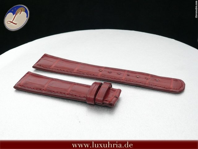 A. Lange &amp;amp; Shne KROKODIL LEDER ARMBAND BORDEAUX 20MM