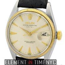 Rolex Oyster Perpetual Date 2Tone Light Champagne Dial Circa...