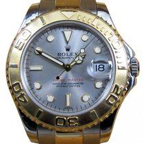 Rolex Yacht-Master 68623 Ladies Midsize 35mm Slate 18k Yellow...