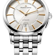 Maurice Lacroix Date Steel Strap, White Dial, Gold Hands and...