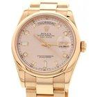 Rolex Men's Rolex Day-Date 18K Rose Gold Watch 118205 Box...