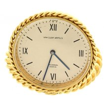 Van Cleef & Arpels 18k Yellow Gold Travel Clock