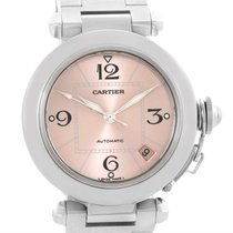 Cartier Pasha Pink Dial Stainless Steel Women's Watch...