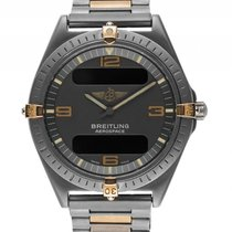 Breitling Aerospace Titan Gelbgold Quarz Chronograph Armband...