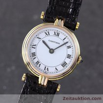 Cartier Lady Ronde 18k (0,750) Gold Damenuhr 3  Gold Trinity
