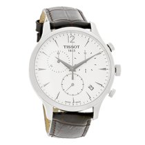 Tissot Tradition Brown Swiss Chronograph Mens Watch T063.617.1...