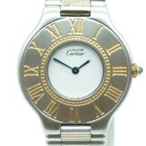 Cartier Must de 21 Steel 18K Gold Bullet Bracelet