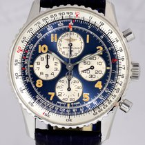 Breitling Navitimer Airborne Chronograph Stahl selten Top blue...